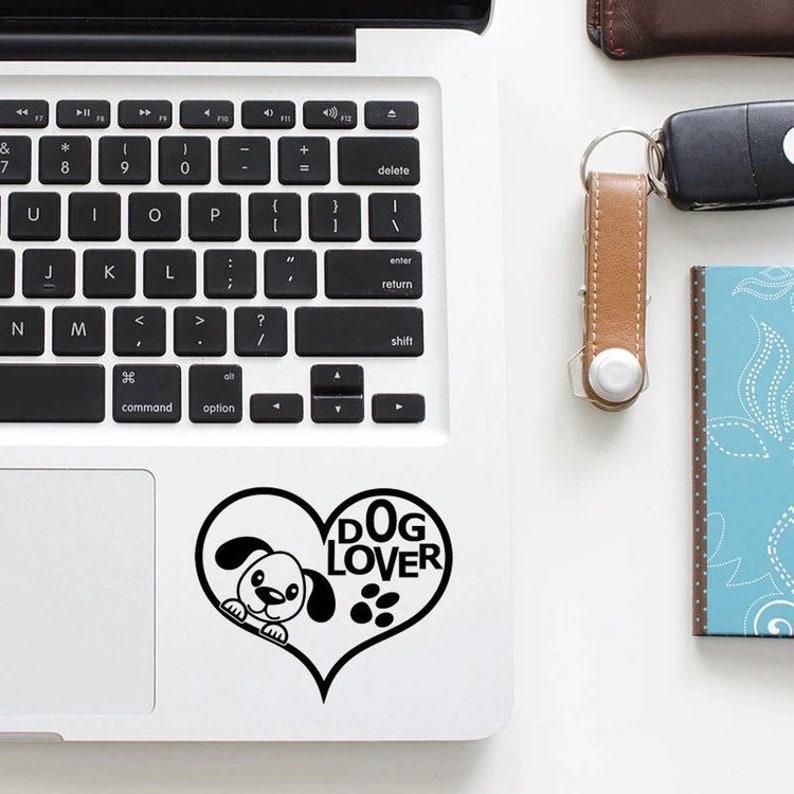 Dog lover decal for trackpad