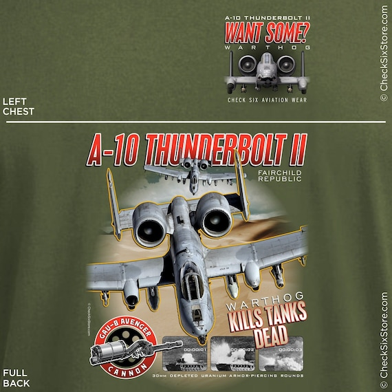 MA12 Military Aircraft A10 Thunderbolt II Warthog Fighter Jet Poster Print A2 A3