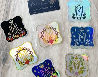 Complete Marian Auspice Sticker Pack (Holographic)