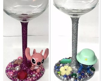 Scrump Lilo /& Stitch Birthday Gin Glass Drinking Glass Gift for Her.284