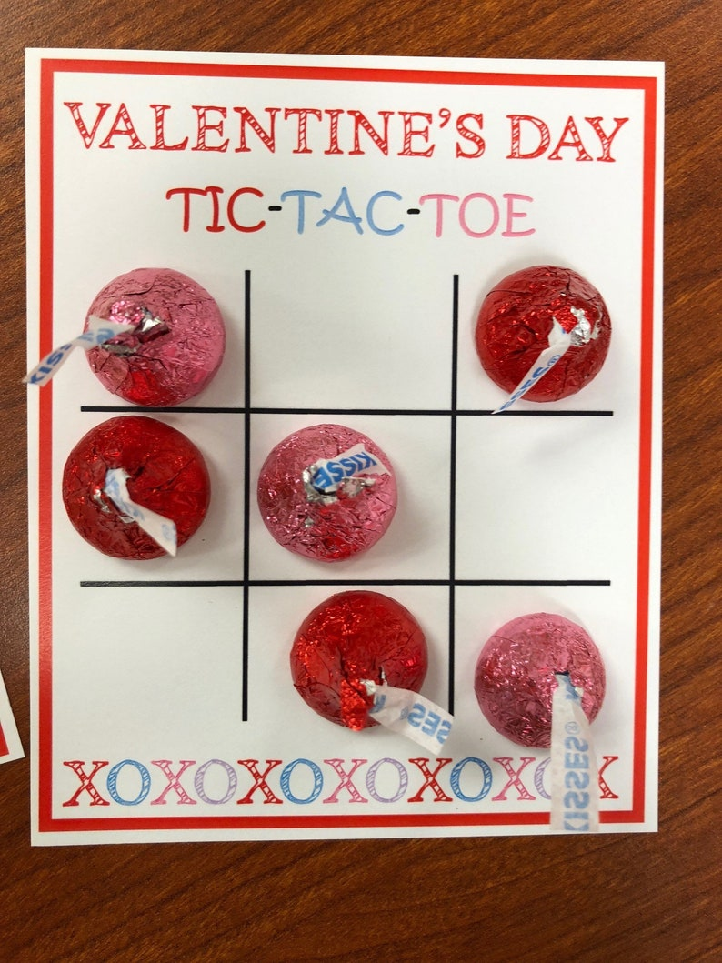 Printable Valentines Day Tic Tac Toe Boards | Etsy