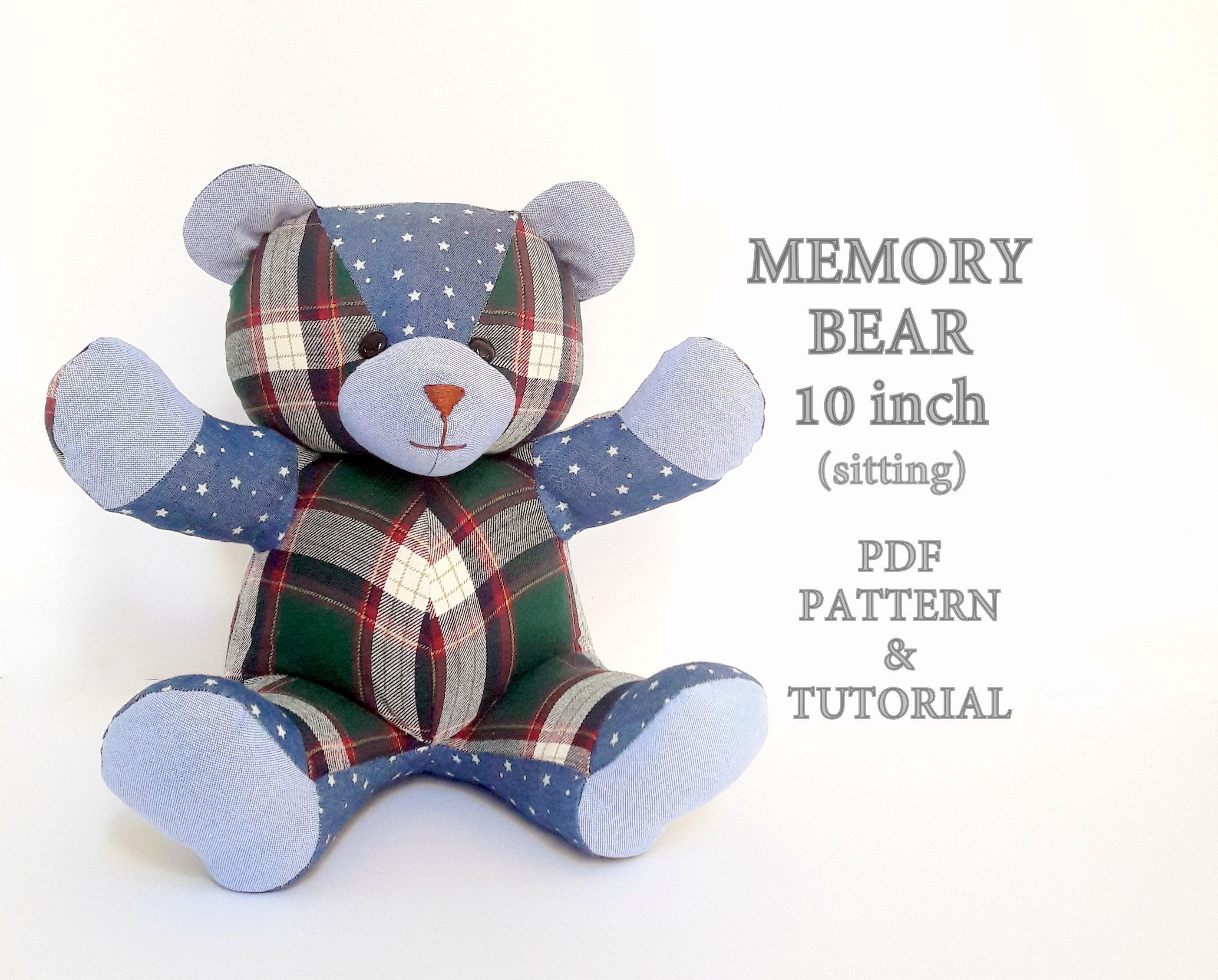 Memory Bear Pattern Make Teddy Bear Cuddly Toy Teddy Bear Etsy