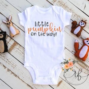 Baby Announcement  Pregnancy Announcement Bodysuit  Fall