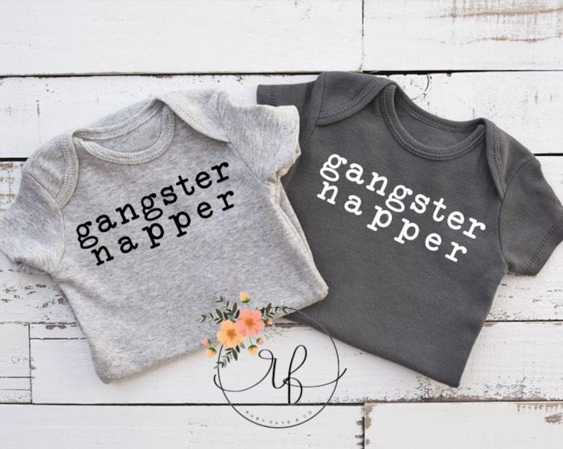 Gangster Napper Baby Onesi Baby Bodysuit Baby Shower Gift Bodysuit Funny Baby Onesi