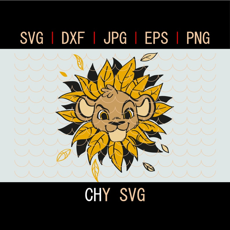 Simba Svg Lion Baby Lion King Svg Lion Vector Svg File Etsy