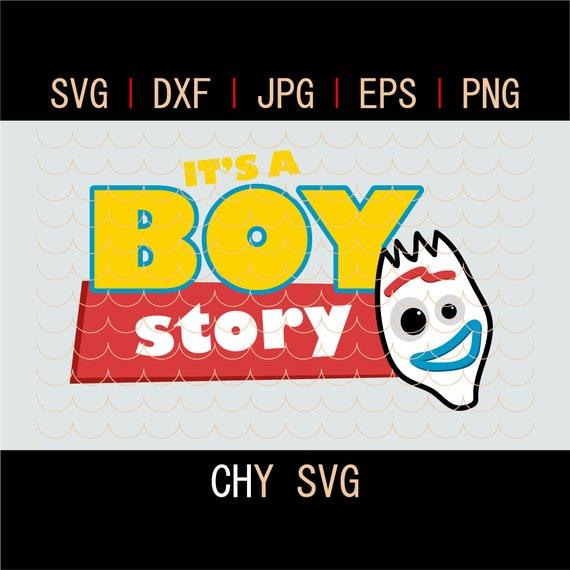 Toy Birthday Svg It S A Boy Story Boys Birthday Forky Etsy