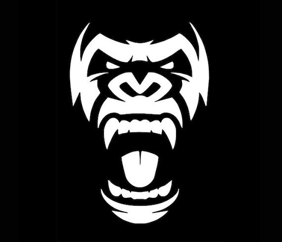 Gorilla Svg File Gorilla Head Svg Gorilla Clipart Etsy
