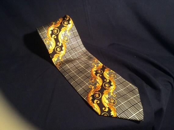 Vintage Versace silk tie, men's tie