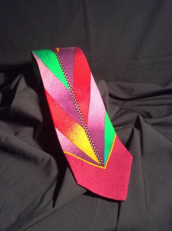 Versace  black label Men's silk tie,