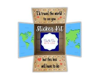 Care Package Flaps, Care Package Sticker Kit, Deployment Care Package, Deployment Package, Military, College, Missionary, travel the world