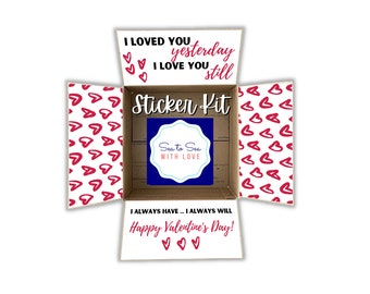Care Package Flaps, Care Package Sticker Kit, Deployment Care Package, Deployment Package, Military, College, Valentine's Day