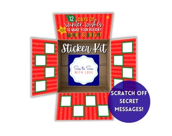 Care Package Flaps/Care Package Sticker Kit/Deployment Care Package/Deployment Package/Military, College, Christmas/12 days of Christmas