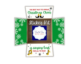 Care Package Flaps, Care Package Sticker Kit, Deployment Care Package, Deployment Package, Military, College, Christmas, Elf the movie