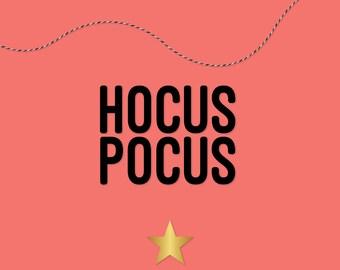 Hocus Pocus Halloween Banner, Halloween Garland, Halloween Decor — HANDMADE