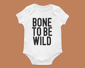 Bone To Be Wild Halloween Baby Bodysuit — HANDMADE