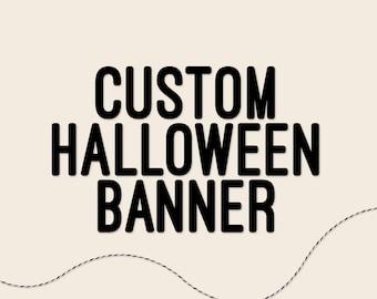 Custom Halloween Banner, Halloween Garland, Halloween Decor — HANDMADE