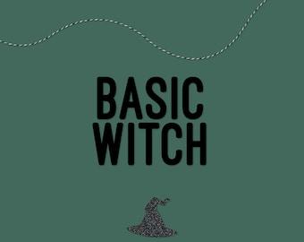 Basic Witch Halloween Banner, Halloween Garland, Halloween Decor — HANDMADE