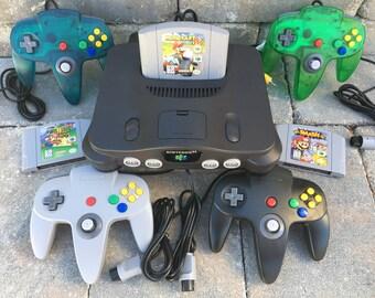 Nintendo 64 Choose Your Bundle! Up to 4 Controllers - Choose Your Game Bundle - Smash Bros, Mario Kart, Mario 64