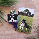 Custom Dog Ornament - Personalized Felt Dog Ornament - Gift for Pet Lovers