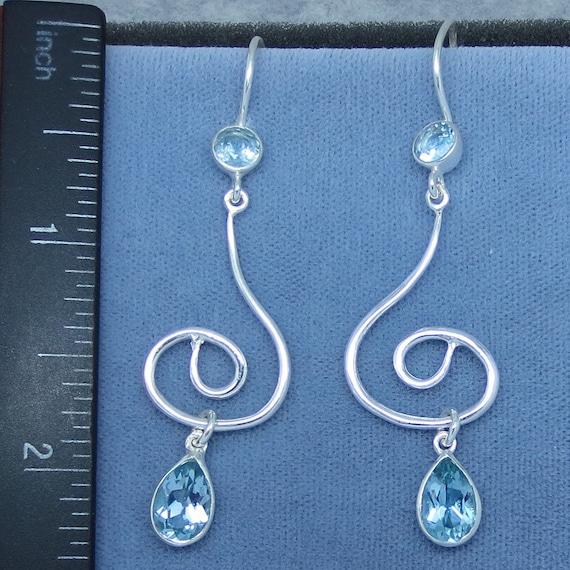 Simple Woven Celtic Drop Dangle .925 Sterling Silver Classic Earrings