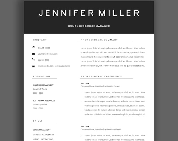 Resume With Accents Top Level Resume