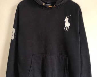 98e7e6325967 Vintage Polo By Ralph Lauren Big Pony Embroidery Hoodie Sweatshirt Pullover  Jumper