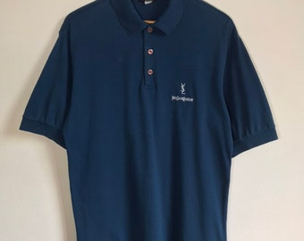 e09a9668 Yves Saint Laurent / YSL Spellout Embroidery Polo Shirt