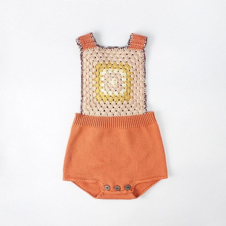2f58bf4f6b67 Vintage-Strampler  Knitted Baby Strampler Baby Body stricken