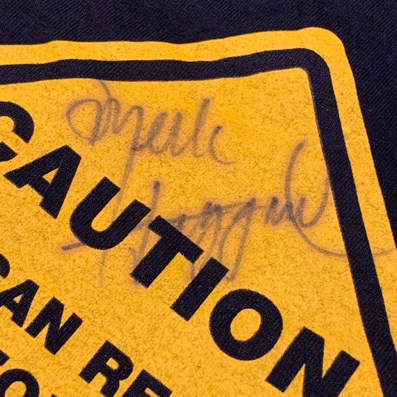 Vintage 1990s Merle Haggard Autographed t-shirt si