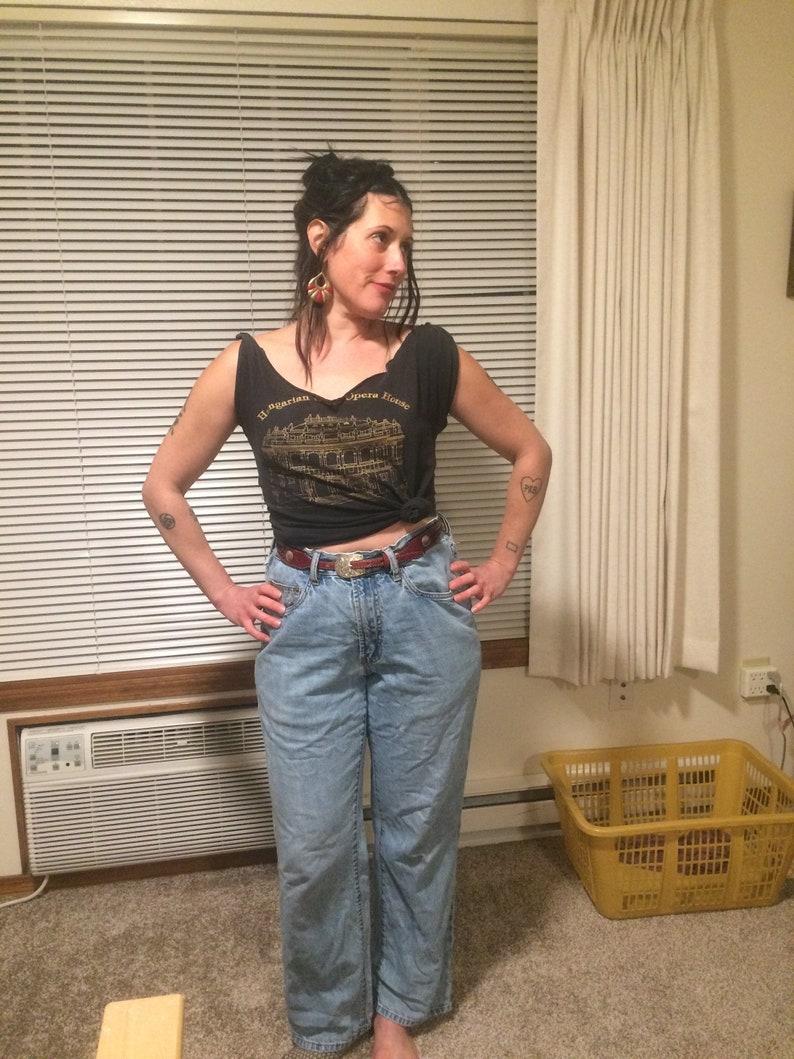 55d806a1c8 90s Indigo Palms Boyfriend Jeans 33 Waist