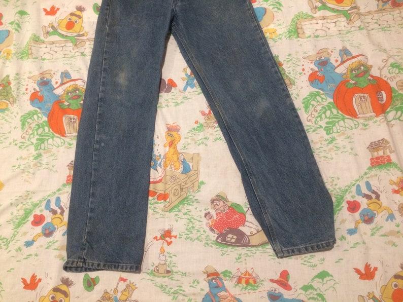 Vintage Work Worn Carhartt Blue Jeans 32 32\u201d Waist 31 31\u201d Inseam Vtg Distressed Denim Pants Jean