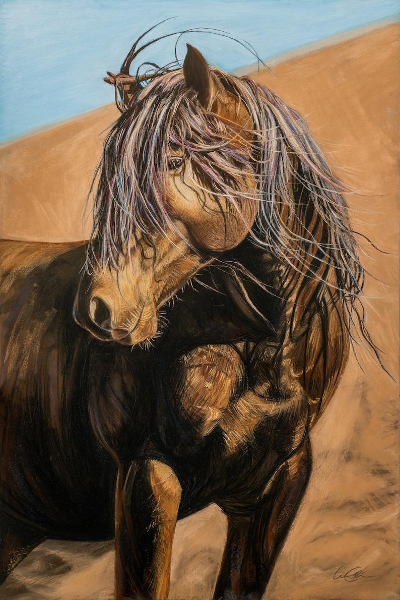 Horse Painting Animals Wildlife Artwork Original Artwork image 0