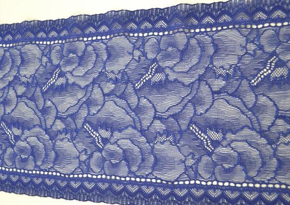 4 mètres Coupon Coupon mètres Dentelles Calais  chantilly bleu dentelles anciennes 6b727d
