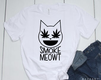 d4cc996449a0a8 Smoke meowt tshirt