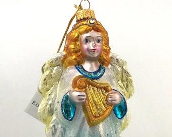 Blue Angel With Harp