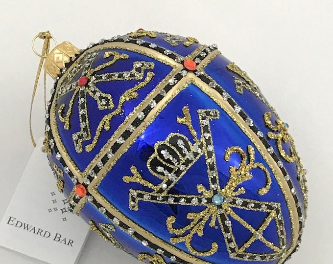 Glossy Sapphire Egg, TSAR IVAN