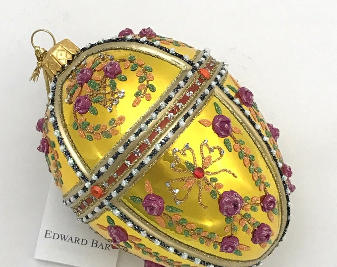 Gold Egg, Gatchina Palace, Glass Christmas Ornament