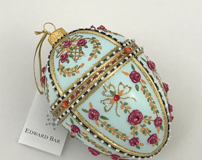 Light Blue Egg, Gatchina Palace, Glass Ornament
