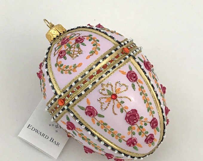 Rose Egg, Gatchina Palace, Glass Ornament