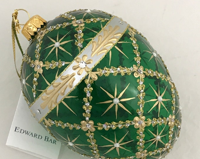 Green Transparent Egg, Royal Carriage, Glass Christmas Tree Ornaments