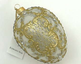 Transparent Pearl Egg, ORNAMENTAL, Glass Ornament