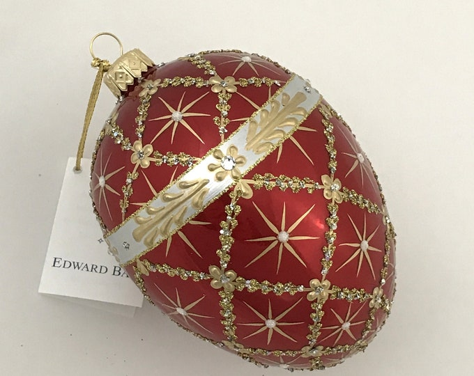 Red Pearl Egg, Royal Carriage, Faberge Style