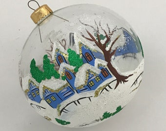 Round bauble, Winter Landscape