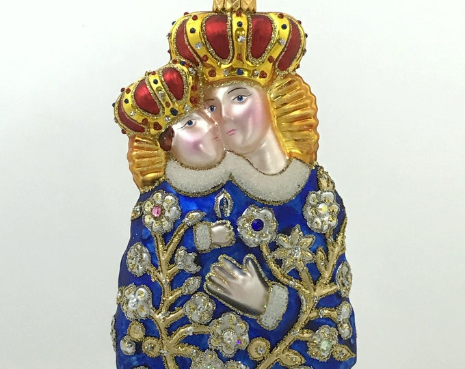 Our Lady of Calvary, Religious Christmas Tree Decoration, H (in)6.26