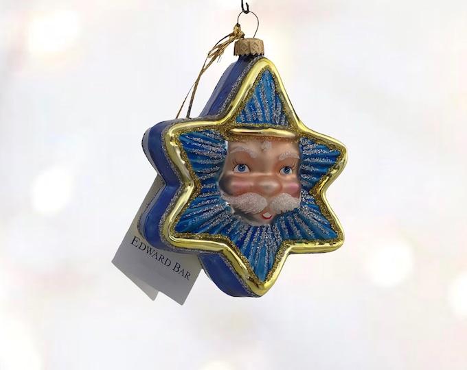 Santa head ornament, Star