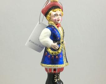 Krakow Boy, Krakowiaczek, Glass Christmas Ornament, H 6.75(in)