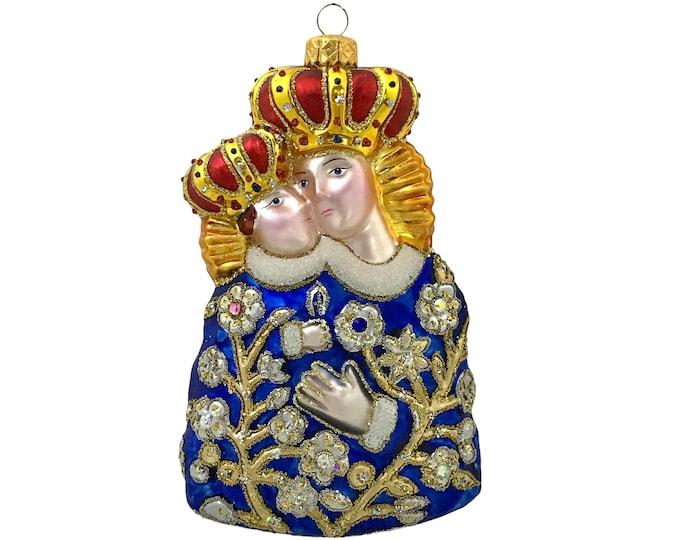 Our Lady of Calvary, Religious Christmas Tree Decoration, with Swarovski Crystals, Edward Bar Studio