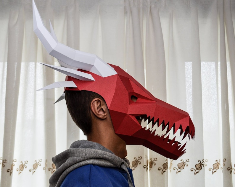 Dragon mask papercraft pdf