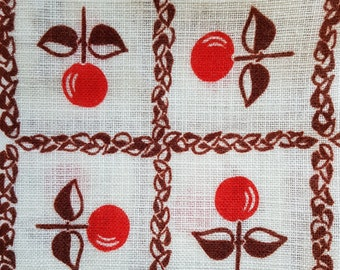 Retro Kitchen Curtains Cherry Etsy