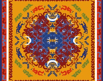 African Art, Yoruba In Print, African Art Print, Spiritual Art, Spiritual Art Print, Original Art Prints, Black African Art, Orisha, YEMOJA